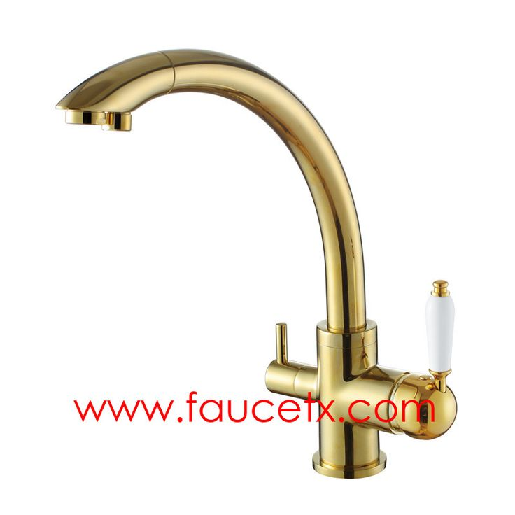 Rolya Golden Finish 3 Way Kitchen Faucets Professional Manufacturer |  Osmosis Reverse Luxury Gold Three Way