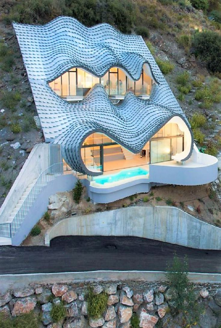 Unique Home Looks Like a Dragon Emerging From Cliffside