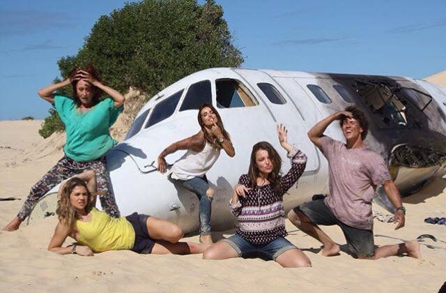 Behind the scenes for the plane crash!!