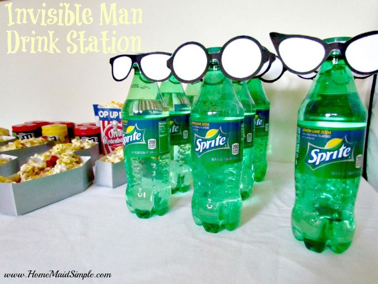 Have a party with the Invisible Man. This Invisible Man Drink Station pairs perfectly with Drac's Monster S'mores for a Hotel Transylvania movie marathon #MakeItAMovieNight ad