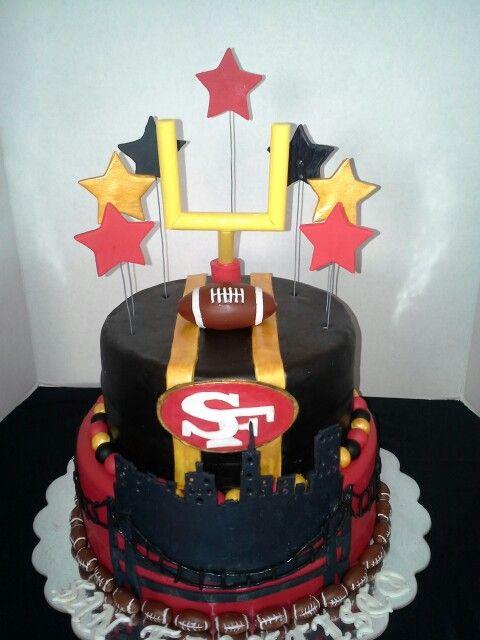 Chocolate 49ers cake