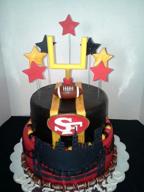 Chocolate 49ers cake