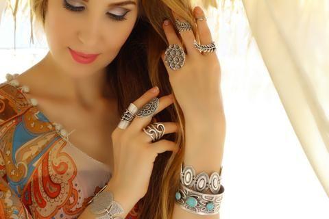 Düğüm Şekilli Otantik Yüzük, Ayarlanabilir / Antik Gümüş, Yüzük, Takimania - 1