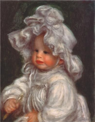 Portrait of claude - Pierre-Auguste Renoir.....BEAUTIFUL...HAVE NEVER SEEN THIS ONE