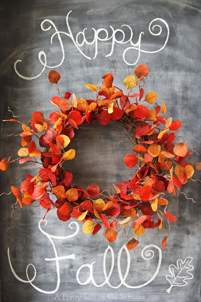 Crate & Barrel Knock Off Wreath //  Cost less than $20 to make!  I love how wild and fire-y it is!