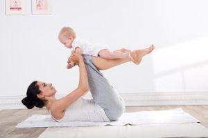 Rückbildungsgymnastik: Dritte Übung