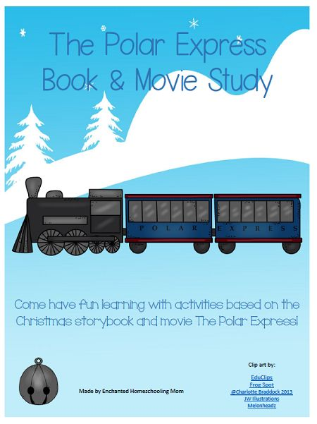Free Polar Express Book and Movie Study Printable | Enchanted Homeschooling Mom | Enchanted Homeschooling Mom