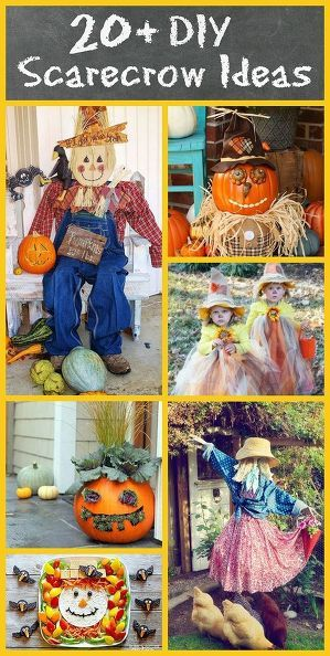 diy scarecrow ideas for fall, crafts, diy, gardening, repurposing upcycling