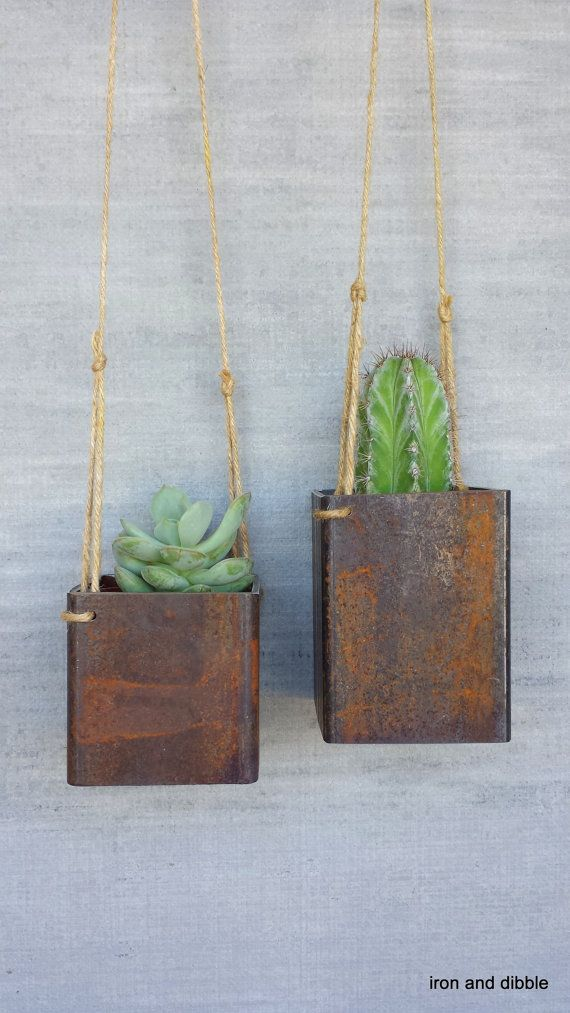 Best 25 metal planters ideas on pinterest metal plant stand ikea musken series and metal - Metal hanging planter ...
