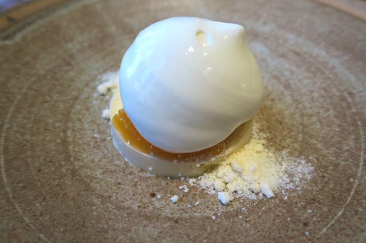 White chocolate mousse | Aubergine: a gastronomic fine dining must do in Canberra