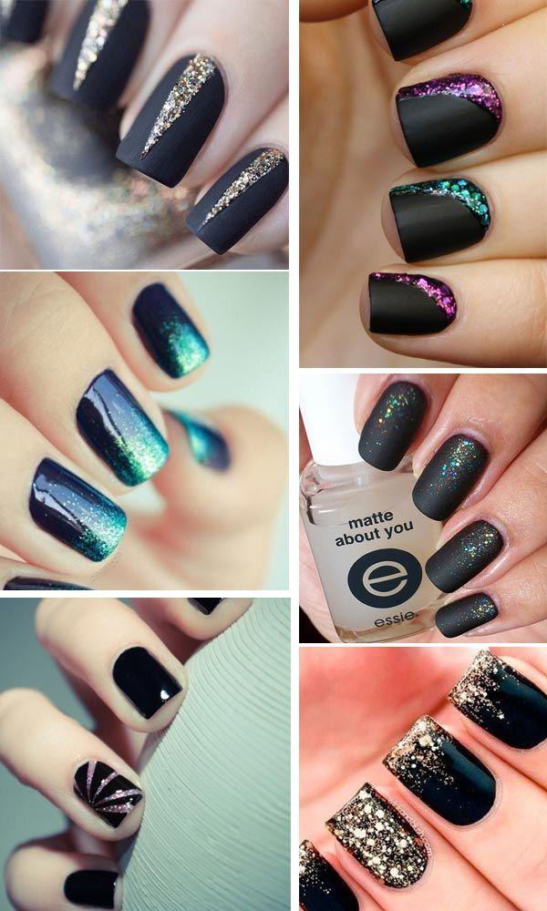 nails-black-glitter unghie nere e glitter