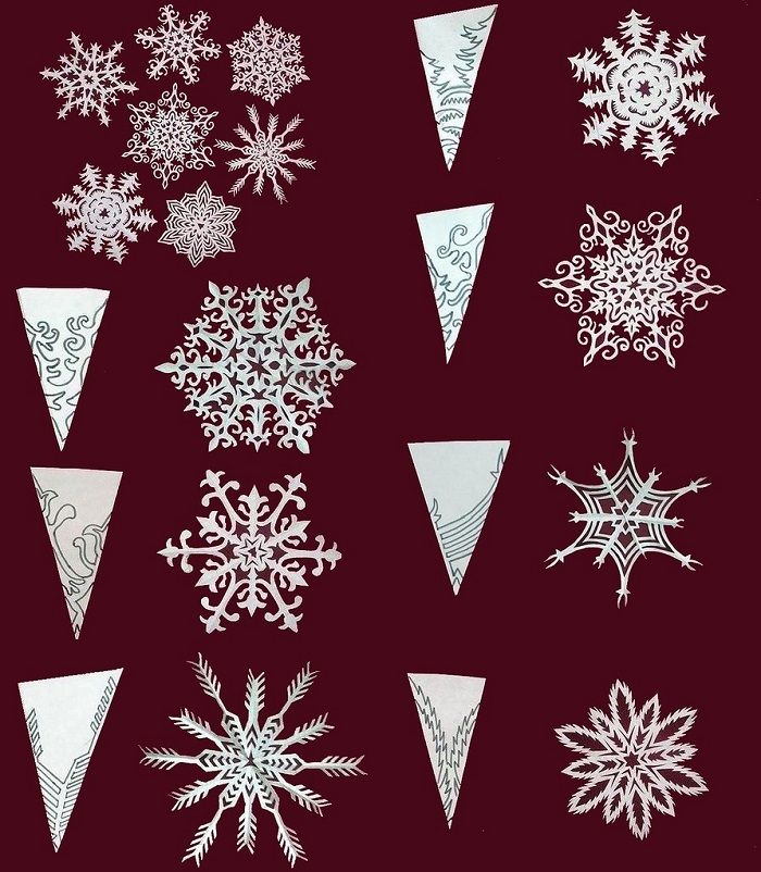 Примеры снежинок