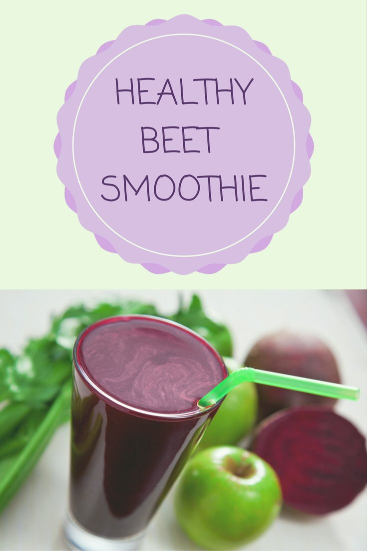 Healthy and Delicious Beet Smoothie With Apple and Celery
