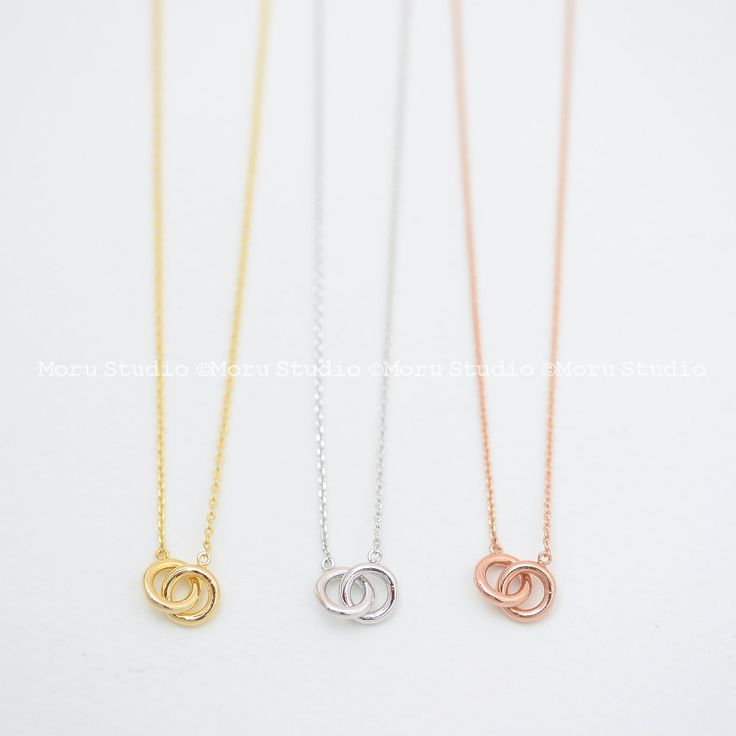 Best Friends Ring Necklace, Infinity Necklace, Dainty Line Circle Necklace, Friendship, Family Tree Love Necklace, Sisters, BFF Necklace 148 by MoruStudio on Etsy