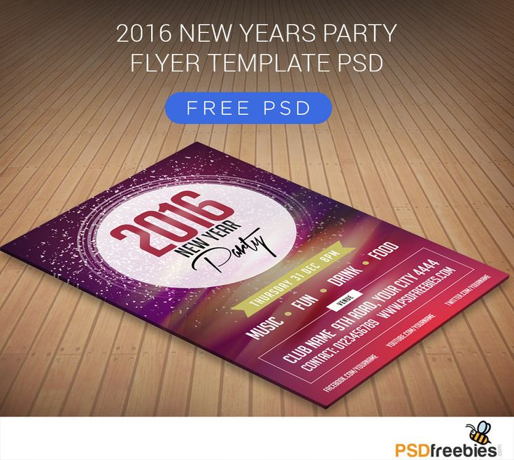 <p>Download 2016 New Years Party Flyer Free PSD. The happy new year flyer template is a beautiful and visually stunning new year flyer that can be used to welcome every guest to the ultimate party of the year. The PSD…</p>