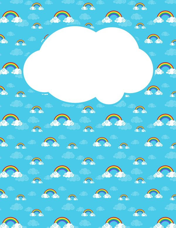 17 Best ideas about Cloud Template – Rainbow Template