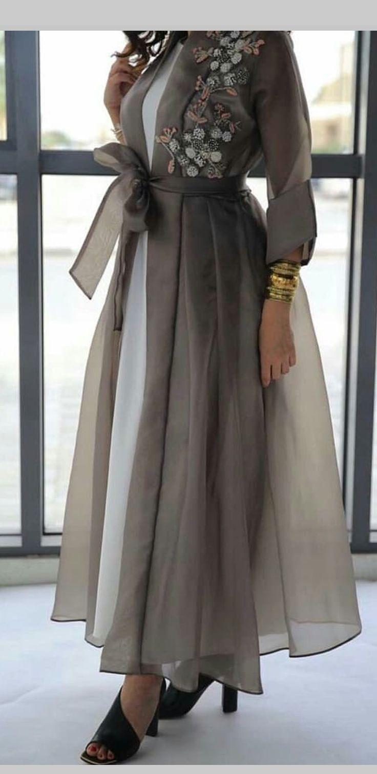 Great idea: chiffon overlay for a slip dress.