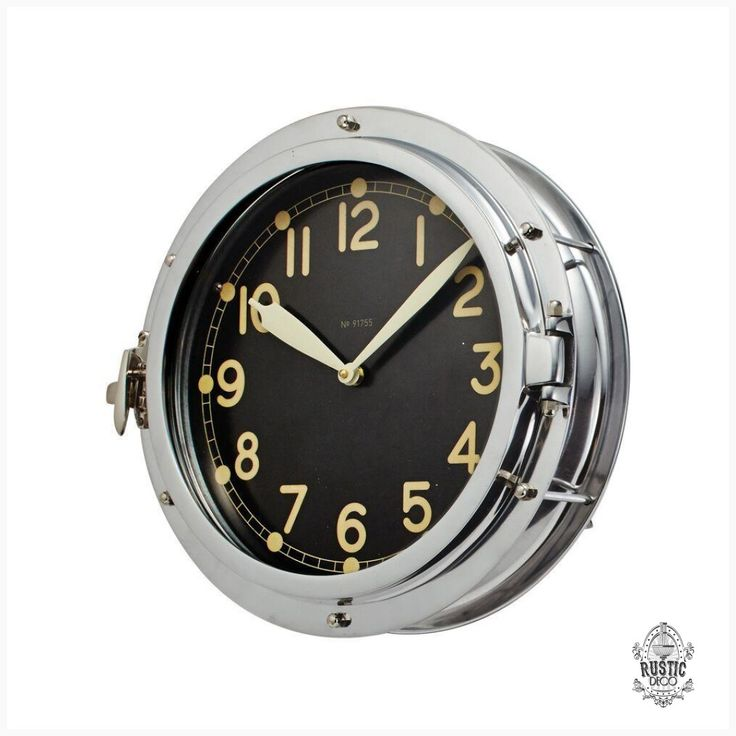Airship Wall Clock Aluminum 1930 S Military Clock Nickel 15 Decopunk Rusticdeco Dieselpunk Steampunk Wall Clock Kitchen Wall Clocks Clock