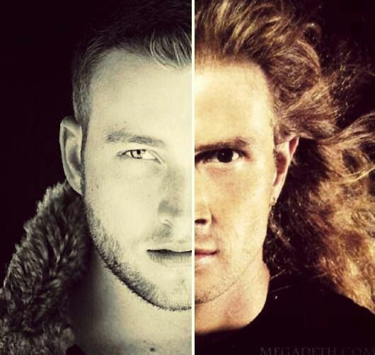 ~SPLIT IMAGE OF DAVE & JUSTIS MUSTAINE~