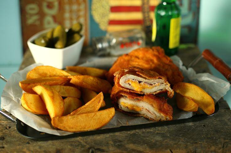 Sajttal-sonkával töltött karaj + házi sült krumpli = tökéletes ebéd • Fördős Zé Magazin