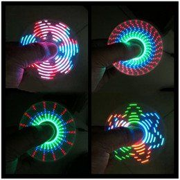 LED Tri Fidget Hand Spinner with Patterns Ultra Fast Bearings Finger Toy Great Gift (LED Graphics)