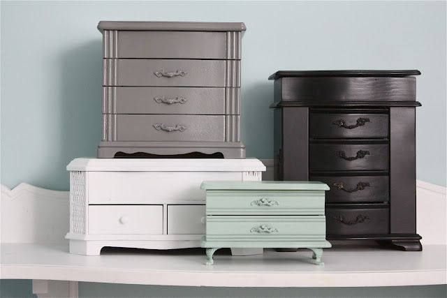Best. Idea. Ever. I feel a new collection starting! Thrift Store Jewelry Box Makeovers