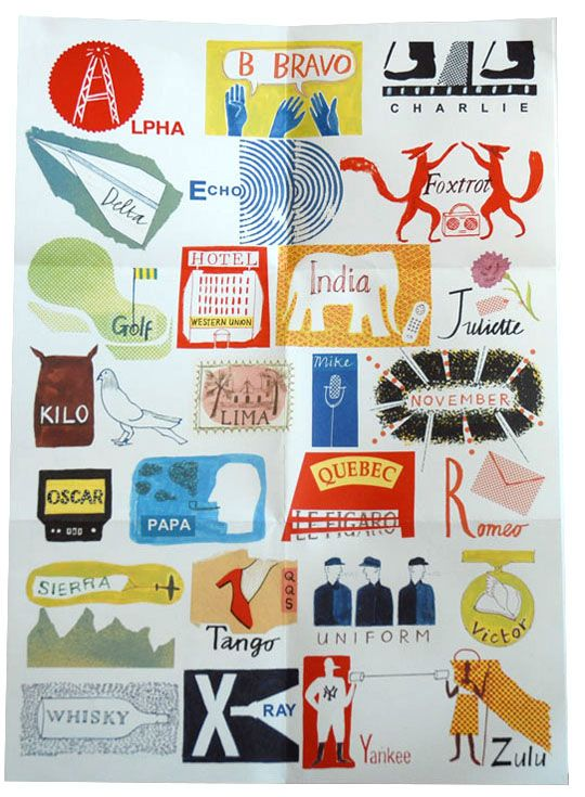 International Phonetic Alphabet by Laura Knight. Available at Selvedge Drygoods online, 30 x 42 cm, £5.95.