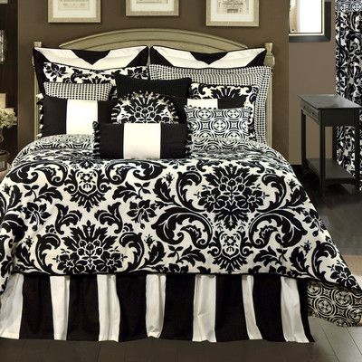 1000 ideas about fuschia bedroom on pinterest charcoal - Black and white bedding sets ...