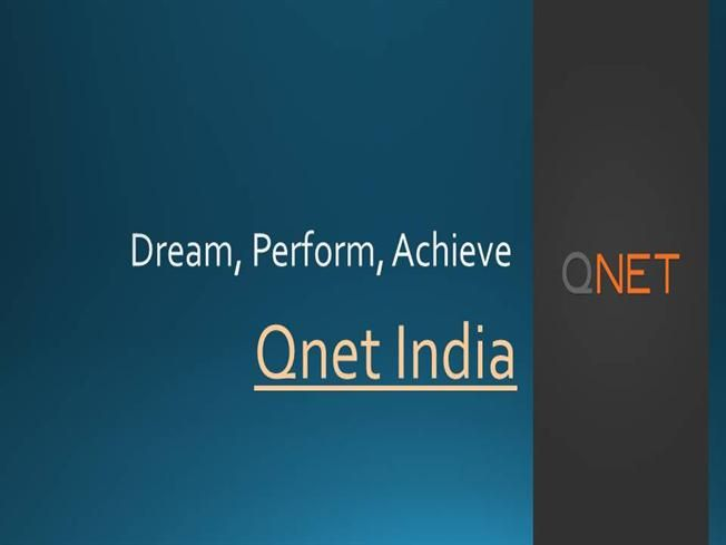 Qnet India Be Sucessful by qnet159703 via authorSTREAM