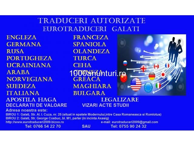 traduceri bulgara Galati - Anunturi Romania