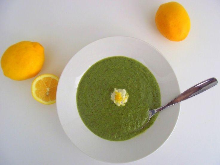 Green Soup w/Meyer Lemon YogurtClose At Food, Soup Stew, Greenest Soup, Glorious Food, Bloggers Soup, Tasty Soup, Green Soup, Healthy Eating, Healthy Food