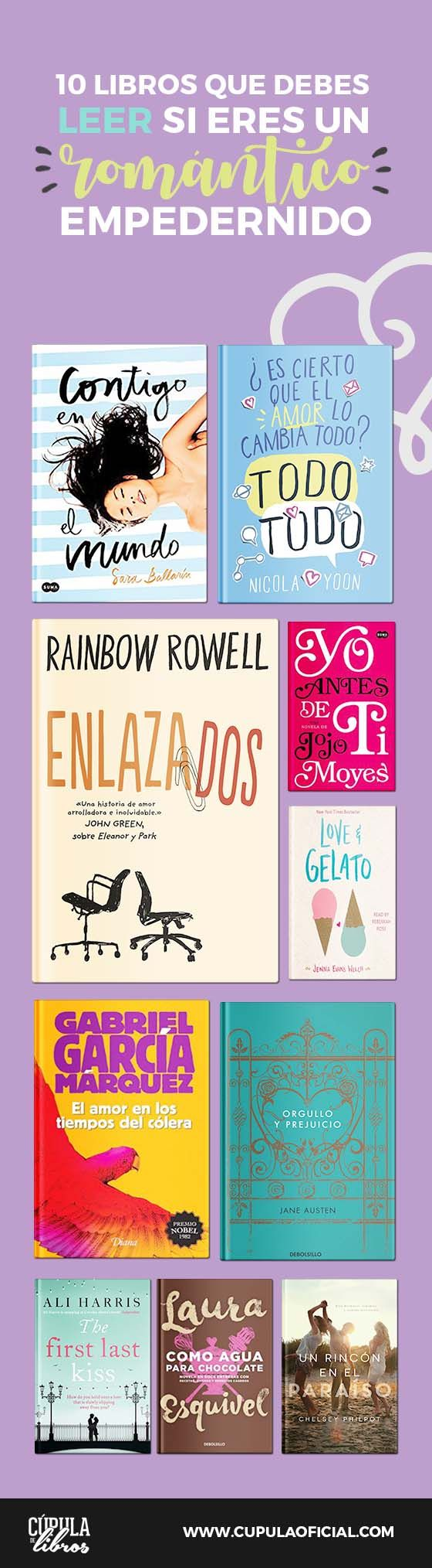 10 Libros que debes leer si eres un Romántico Empedernido.