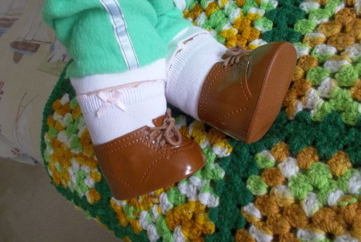 """Cabbage Patch Kid Dolls """"Original Doll Baby"""" High Top Plastic Brown Shoes 1984 Fibre Craft by cherlove2 on Etsy"""
