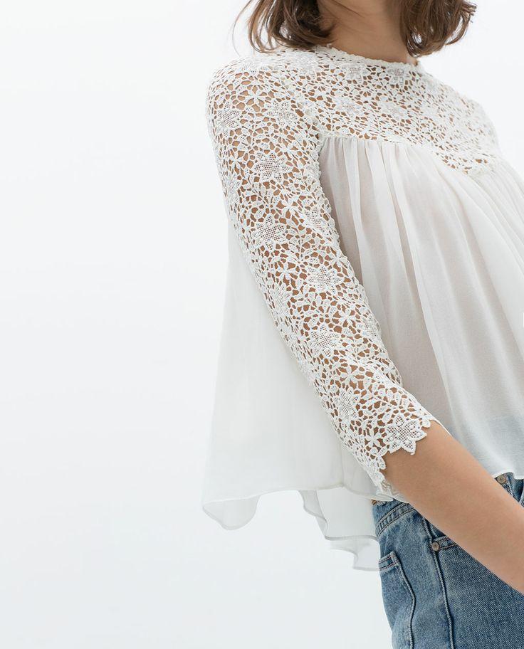 Imagen 5 de TOP ENCAJE COMBINADO de Zara