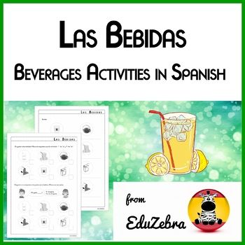 I have designed these activities for my 3rd, 4th and 5th graders, but you can use it with younger or older students too. It is a fun way to learn beverage vocabulary (té, café, agua, leche, limonada, zumo de naranja, zumo de manzana, refresco) in Spanish.
