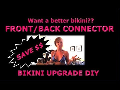 Bikini Competition Suit Alterations FRONT and BACK Connector Upgrade DIY - YouTube