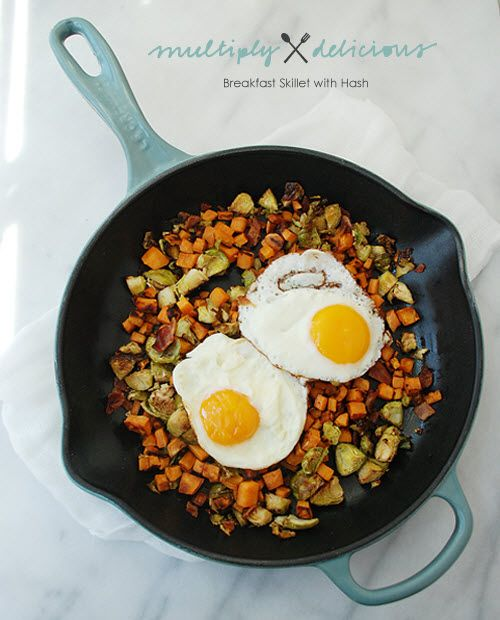 ... potato and Brussels sprouts breakfast skillet - Multiply Delicious