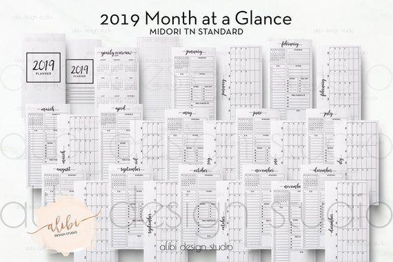 Standard Tn 2019 Monthly Planner 2019 Calendar For Travelers