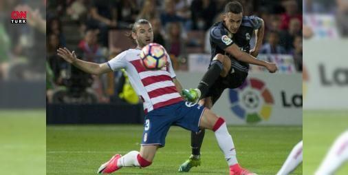 Düşene bir darbe de Real Madrid'den: İspanya Birinci Futbol Ligi'ndeki (#LaLiga) 36. hafta maçında Real Madrid, küme düşmesi kesinleşen Granada'yı deplasmanda 4-0 mağlup etti.