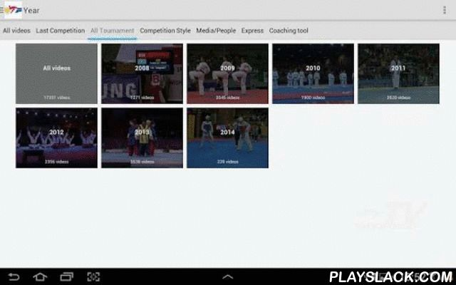 WTF Taekwondo TV  Android App - playslack.com , Enjoy the very best of taekwondo competitions anywhere, anytime!WTF WebTV Android application opens up the world of taekwondo directly on your hand-held.The only way to access the WTF official Web TV on your Android device!This is the only and easiest way to access all videos on the official taekwondo TV channel of the World Taekwondo Federation (WTF).More than 8000 matches from over 30 top-rated international tournaments.You cannot miss any of…