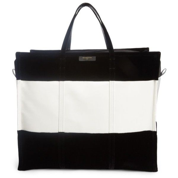 Women's Balenciaga Extra Large Bazar Tote (€2.340) ❤ liked on Polyvore featuring bags, handbags, tote bags, blanc, shopping tote bags, white tote purse, shopper tote handbags, balenciaga purse and balenciaga tote