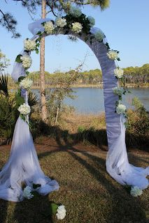 decorated+wedding+arch | the heavenly hydrangea arch 1 pre lite arch all occasion arch ...
