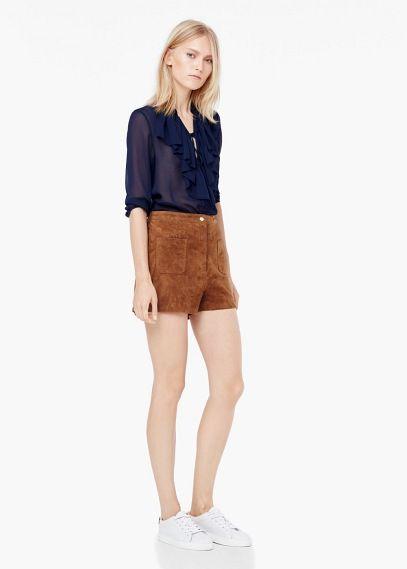 Shorts aus wildleder | MANGO
