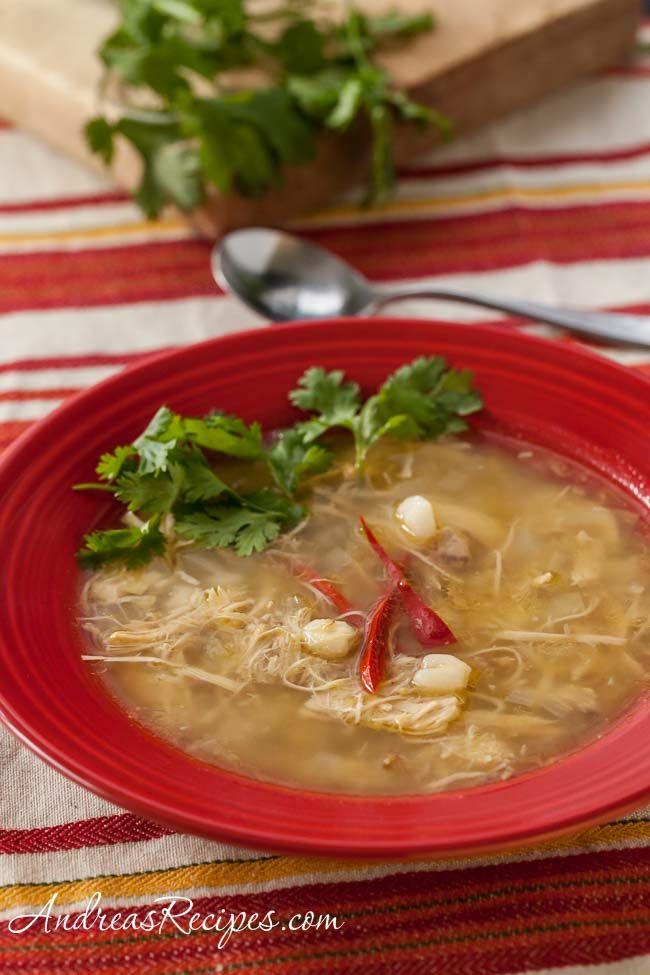 chicken and tomatillo posole posole recipes mexican chicken soups ...