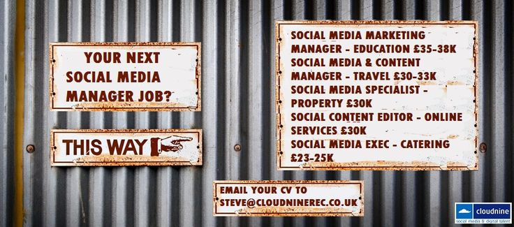 We've got some great roles in #social media? Looking for the next step in your #career? Get in touch!