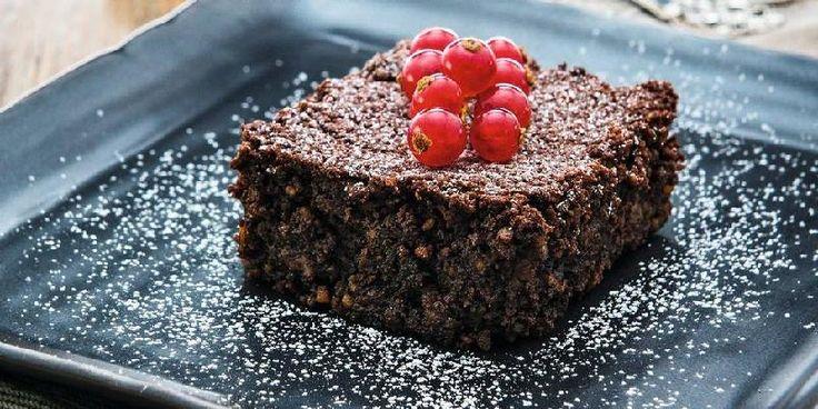 Mokkabrownie uten sukker, mel eller melk - Denne kaken er søtet med stevia istedenfor vanlig sukker. Røren er beregnet til en ildfast form.
