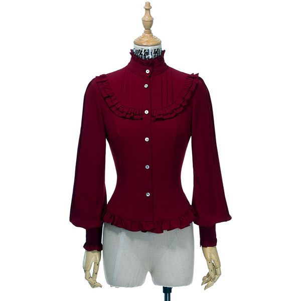 Gothic Vintage Long Sleeves Dress Shirt Preppy Blouse Bowie ❤ liked on Polyvore featuring tops, blouses, purple long sleeve blouse, bow neck blouse, vintage blouses, long sleeve tops and purple long sleeve top