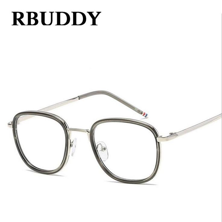 RBUDDY Classic Clear Lens Women Men Eyeglasses myopia designer optical Big Frames Glasses Eyewear Transparent Glasses Frame 2017
