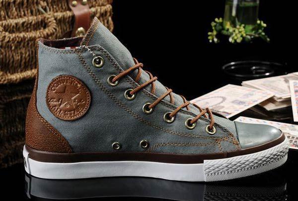 2013 New Converse All Star Vampire Diaries Grey Denim Couples Sneakers High Tops [J13050603] - $58.00 : Discount Converse All Star Sneakers Sale,Converse All Star Sandals,Comics and Womens Platform Sneakers