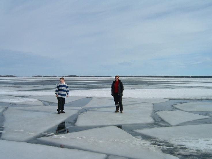 Walking on thin ice.